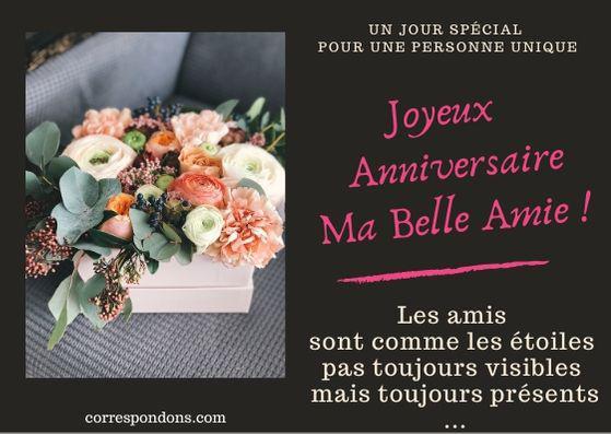 Message Bon Anniversaire à Son Amie Souhaits Bonne Fête à
