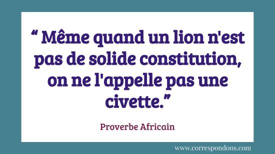 Proverbe africain qui faire rire sur l'irrespect et la moquerie