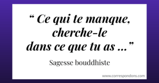 Beau proverbe bouddhiste plein de sagesse